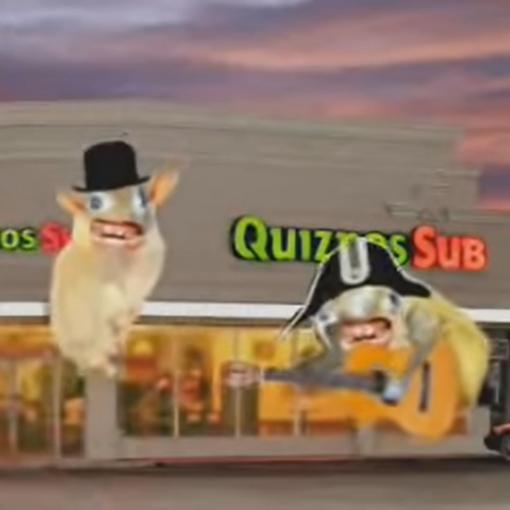 Quizno's Spongemonkeys Ads